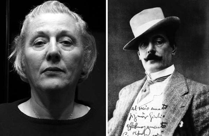 vľavo Nadia Manfredi, vpravo Puccini, foto: Paolo Benvenuti