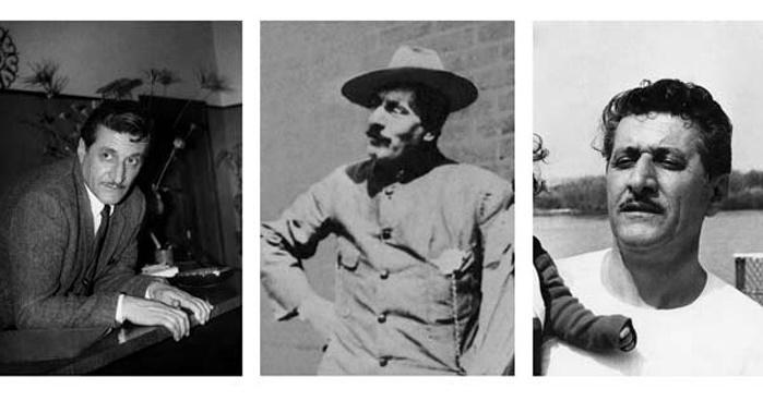 vpravo a vľavo pravdepodobne skladateľov syn, v strede Giacomo Puccini, foto: Paolo Benvenuti