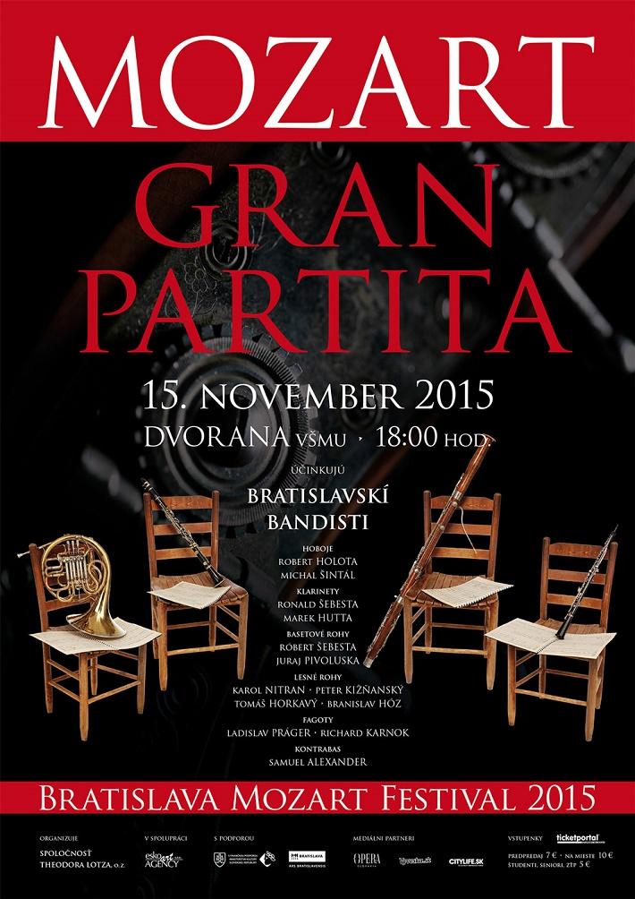 Bratislava Mozart festival 2015, Gran Partita, plagát