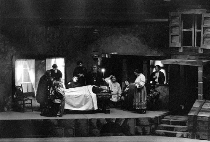 D. Šostakovič: Ruská lady Macbeth Mcenského okresu, Scéna z inscenácie, Cleveland, 1935