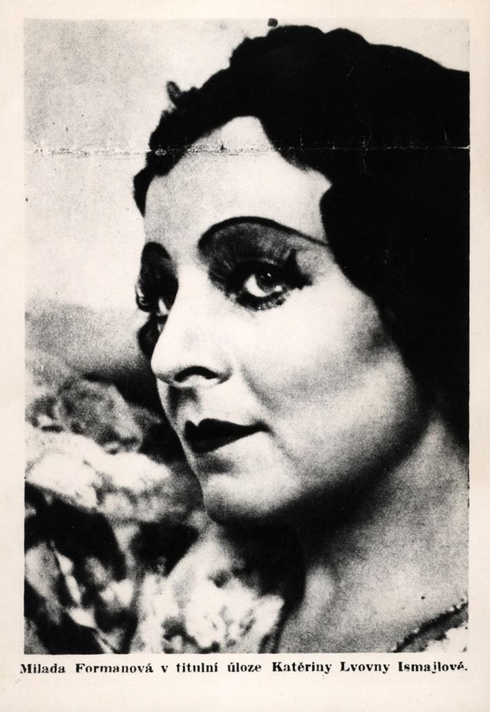 D. Šostakovič: Ruská lady Macbeth, Opera SND, 1935, Milada Formanová (Katerina Ľvovna Izmajlova), foto: Archív DÚ