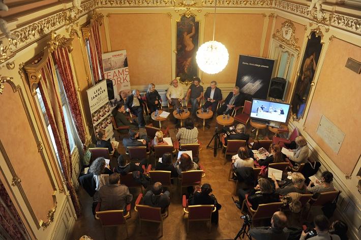 Fotografia z tlačovej konferencie k premiére opery Vec Makropulos v Opere SND, foto: Alena Klenková/SND