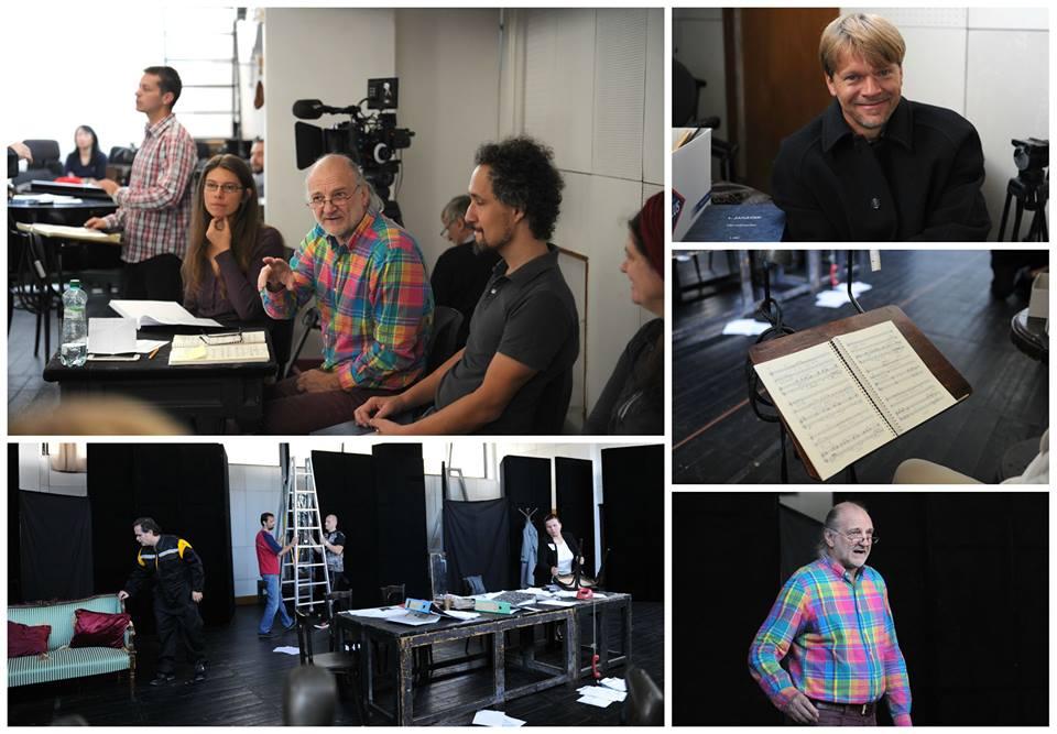 Fotokoláž zo skúšobného procesu opery Vec Makropulos, foto: FB Opery SND