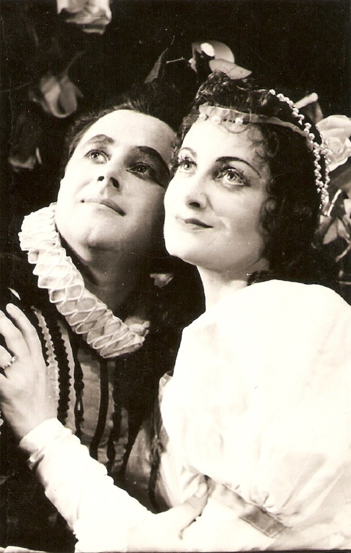G. Verdi: Rigoletto, ŠD Košice, 1959, Stanislav Martiš (Vojvoda), Lucia Ganzová (Gilda)