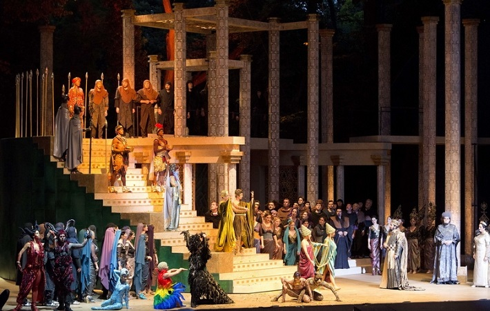 Karl Goldmark: Kráľovná zo Sáby, Štátna opera Budapešť, foto: Zsófia Pályi