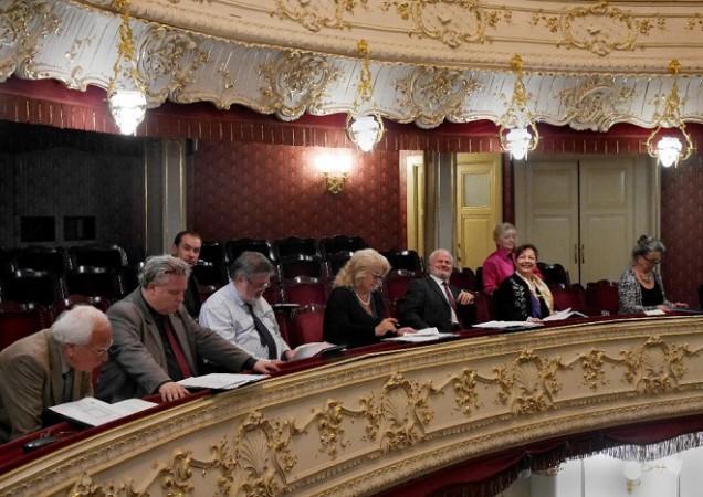 Medzinárodná spevácka súťaž Antonína Dvořáka, Karlové Vary 2015, porota 50. ročníka, foto: Pavel Horník