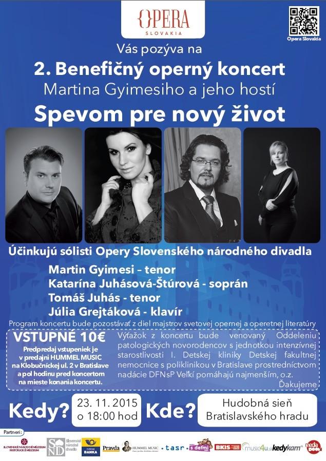 Operný benefičný koncert MG 2015, plagat