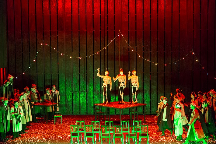 Richard Wagner: Bludný Holanďan, Theater an der Wien, 2015, Arnold Schoenberr chor, foto: Werner Kmetitsch