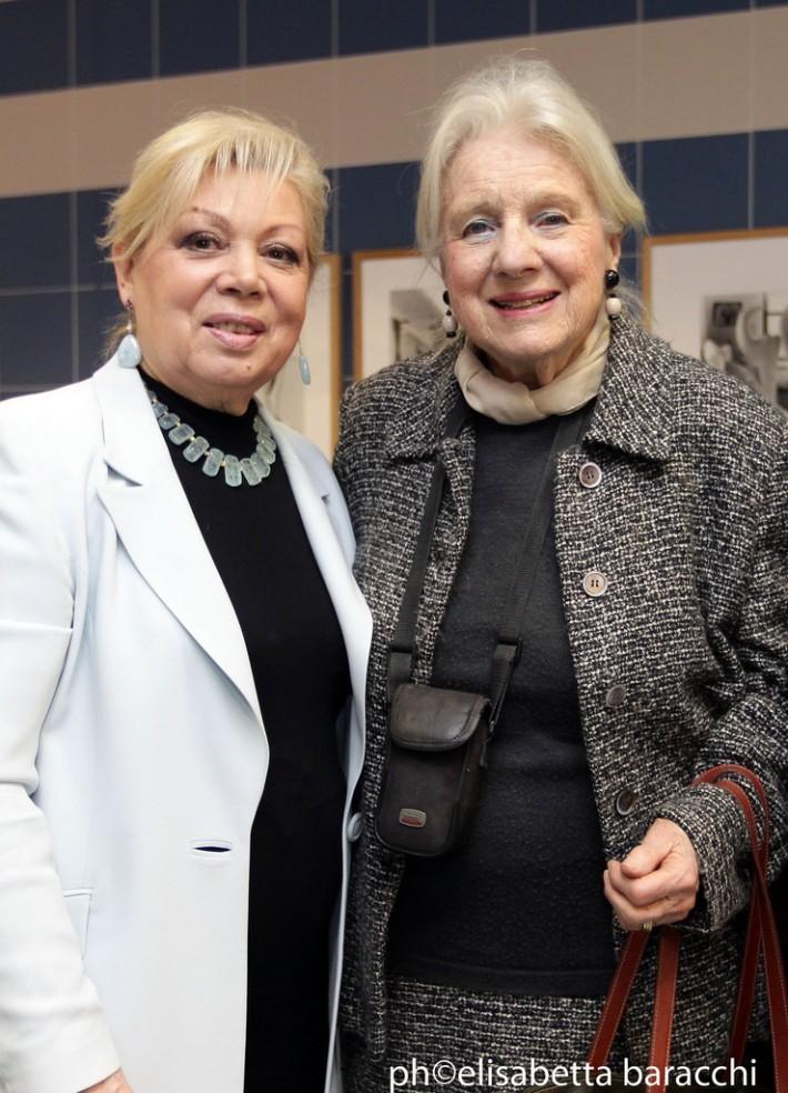 Simonetta Puccini (vpravo) s Mirellou Freni, foto: Elisabetta Baracchi