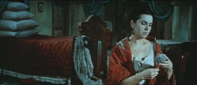 Záber z filmu Katerina Izmajlova, réžia Michail Šapiro, 1966, Galina Višnevskaja (Katerina Izmajlova)