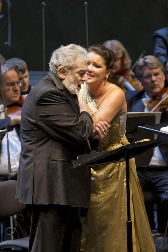 Koncertné prevedenie Johanky z Arku v Salzburgu, Plácido Domingo, Anna Netrebko
