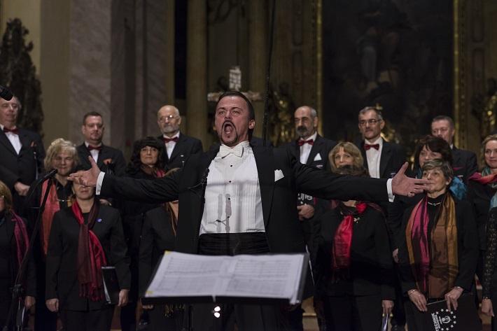 Operný koncert v Trnave, 2015, Štefan Kocán, zbor Technik Akademik, foto: Aneta Balážová