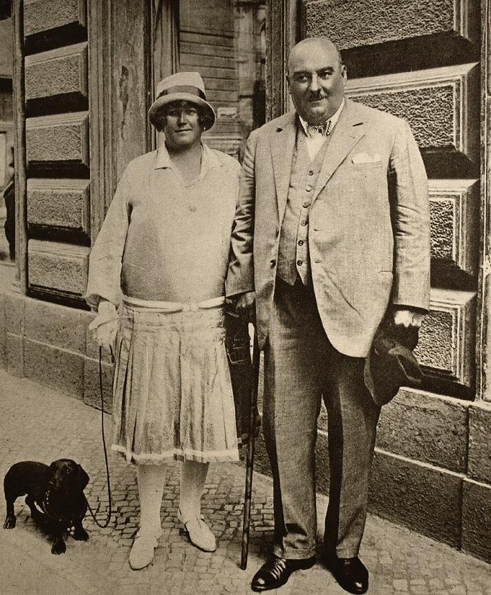 Oskar Nedbal s manželkou