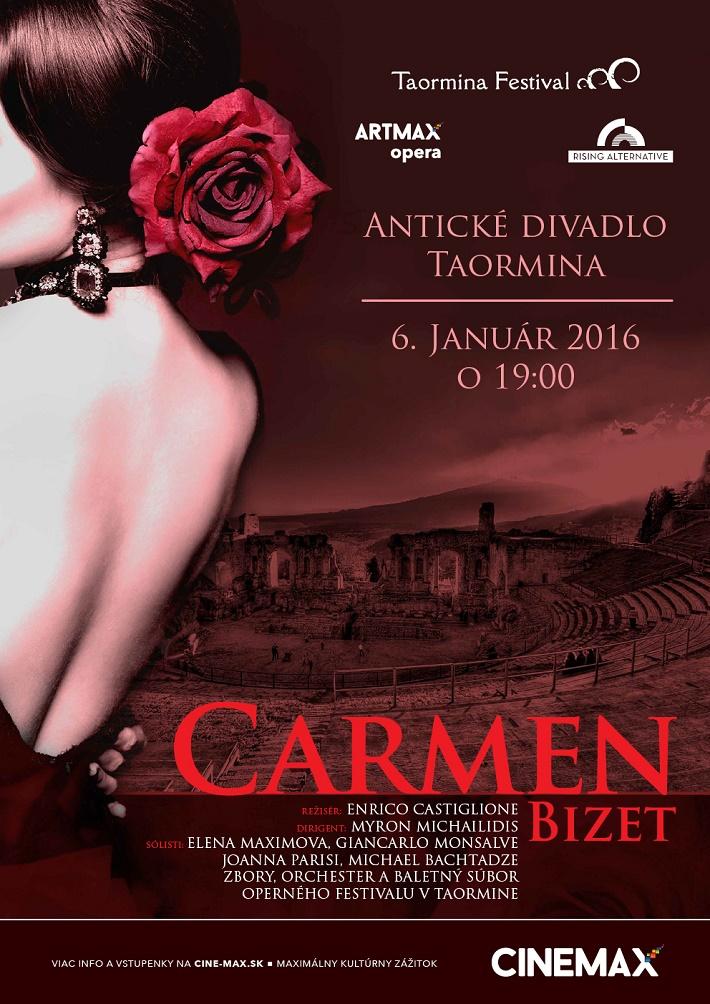 G. Bizet: Carmen, antické divadlo Taormina na Sicílii, plagát