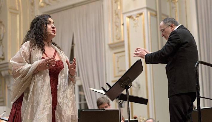 Koncert Slovenskej filharmónie, 2016, Stella Grigorian, Fabrizio Ventura, foto: Ján Lukáš