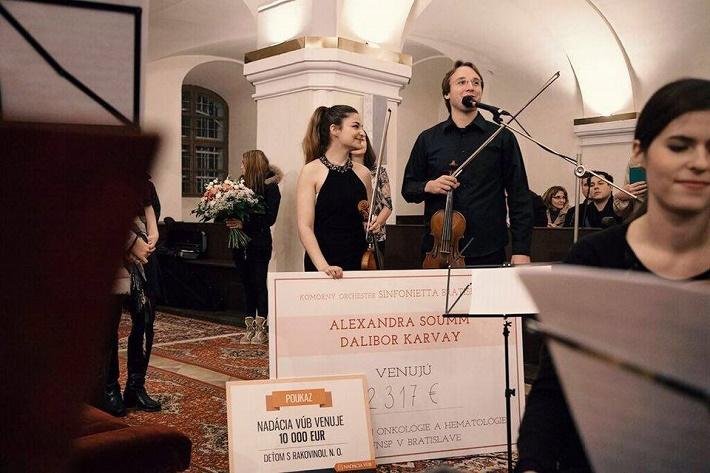 Majstrovské kurzy svetových virtuózov v Bratislave, 2015, Benefičný koncert, Alexandra Soumm, Pavel Bogacz ml., foto Ján Lukáš
