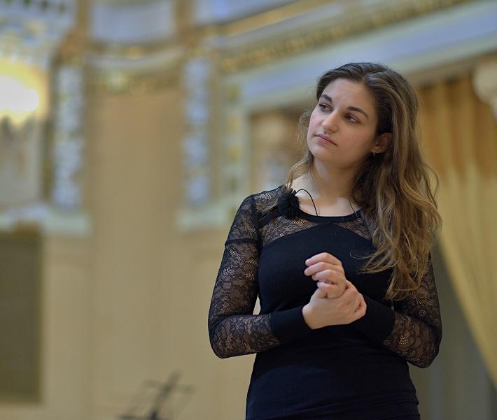Majstrovské kurzy svetových virtuózov v Bratislave, 2015, Recitál v Koncertnej sieni Slovenskej filharmónie, Alexandra Soumm, foto: Ján Lukáš