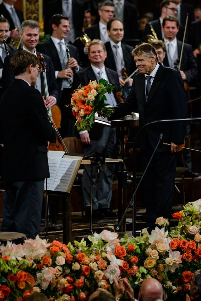 Novoročný koncert Viedenských filharmonikov 2016, Mariss Jansons, foto: Benedikt Dinkhauser