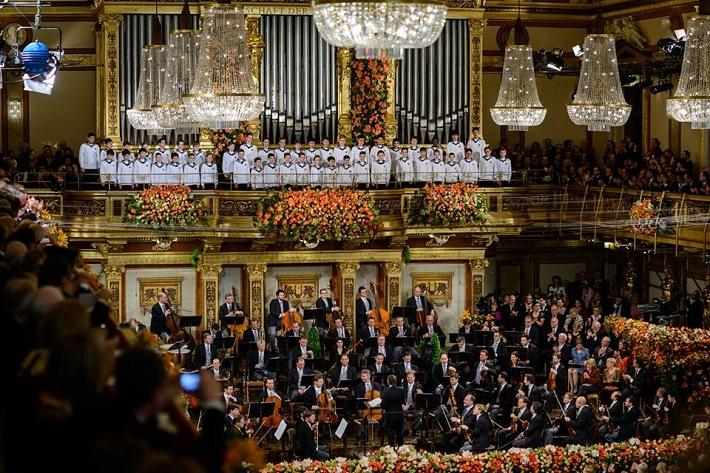 Novoročný koncert Viedenských filharmonikov 2016, foto: Benedikt Dinkhauser