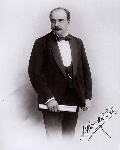 Oskar Nedbal s podpisom