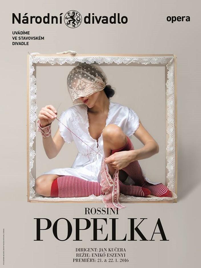 Popoluška, Národné divadlo Praha, plagát