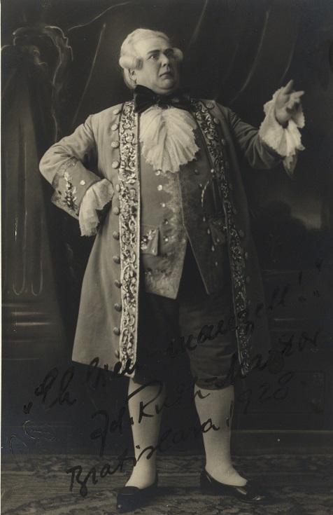 R. Strauss: Gavalier s ružou, Opera SND, 1928, Zdenko Ruth-Markov (Barón Ochs), foto: Archív DÚ