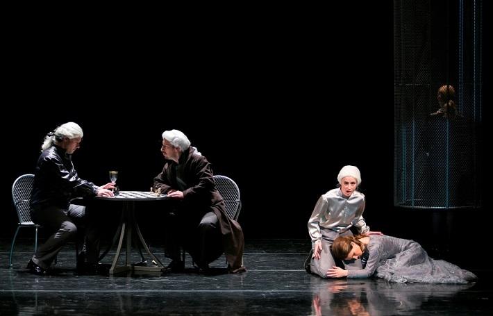 G. F. Händel: Alcina, Opera ŠD Košice, 2016, D. Maggioni (Oronte), M. Lukáč Melisso, M. Havryliuk (Bradamante), A. Hollá (Morgana), foto: Joseph Marčinský
