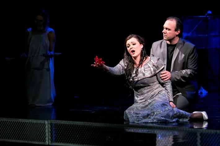 G. F. Händel: Alcina, Opera ŠD Košice, 2016, Mariana Hochelová (Morgana), Davide Maggioni (Oronte), foto: Joseph Marčinský