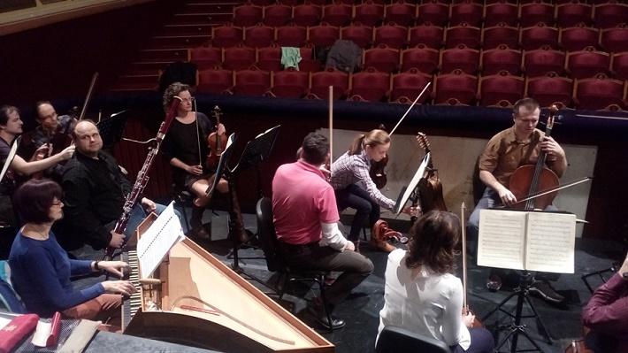 G. F. Händel: Alcina, Opera ŠD Košice, 2016, skúška opery, Marek Štryncl a orchester ŠDKE, foto: Eva Nováková