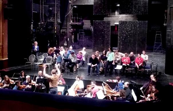 G. F. Händel: Alcina, Opera ŠD Košice, 2016, skúška opery, Marek Štryncl, sólisti, orchester a zbor Opery ŠDKE, foto: Eva Nováková