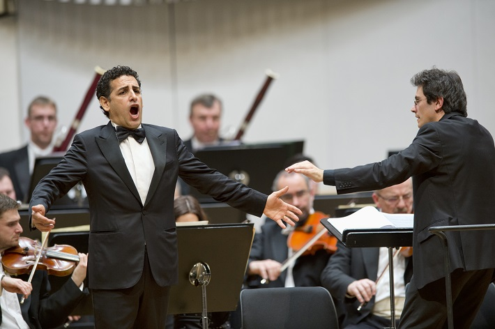 Koncert agentúry Kapos, 2016, Juan Diego Flórez, Sebastiano Rolli, Slovenská filharmónia, foto: ©PANER