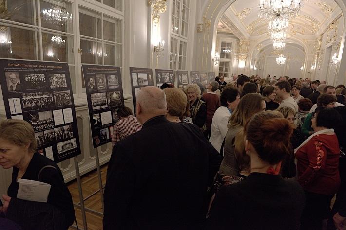 Koncert k 70. výročiu založenia Slovenského filharmonického zboru, 2016, výstava mapujúca 70. rokov SFZ, foto: Ján Lukáš