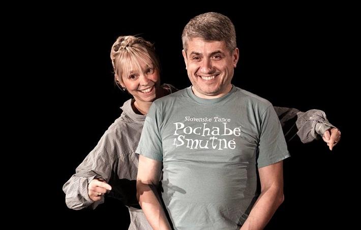 P. Breiner, N. Horečná: Slovenské tance - Životy svetiel, Balet SND, 2016, Natália Horečná, Peter Breiner, foto zo skúšky, foto: Peter Brenkus