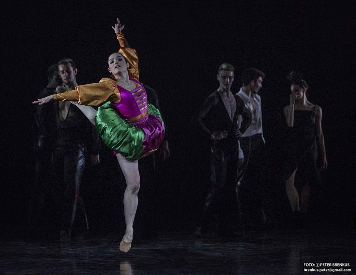 P. Breiner, N. Horečná: Slovenské tance - Životy svetiel, Balet SND, 2016, Sarah Millner (Katarína), foto: Peter Brenkus