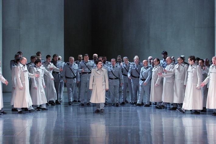 R. Wagner: Lohengrin, Opera SND, 2013, Daniel Čapkoviť (Kráľovský hlásateľ), foto: Anton Sládek