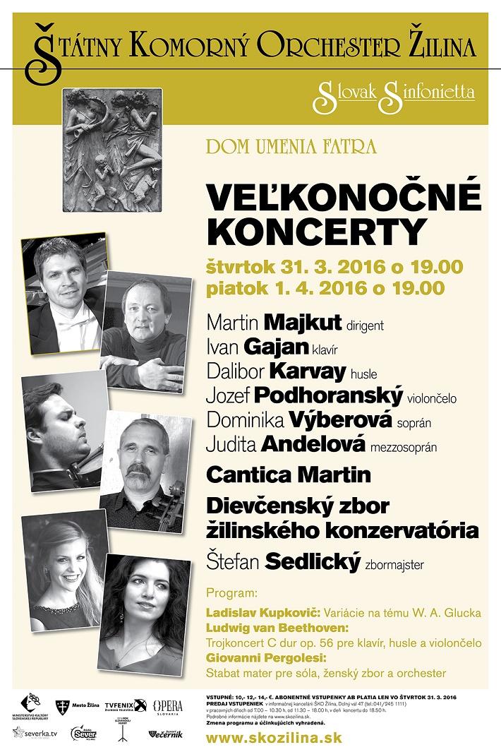 Veľkonočné koncerty v ŠKO Žilina, 2016