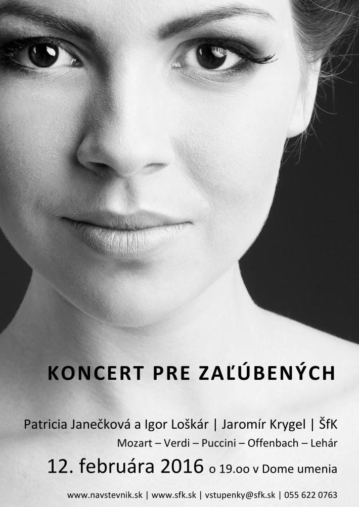 koncert pre zalubenych, plagát