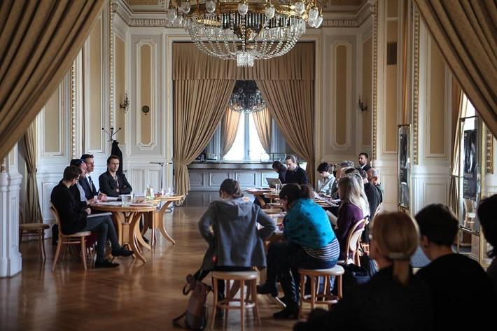 Foto z tlačovej konferencie na ktorej vedenie Národného divadla v Brne predstavilo novú sezónu 2016/2017