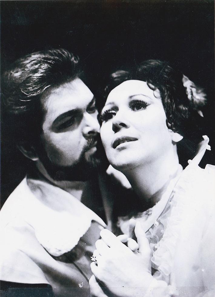 G. Donizetti: Lucia di Lammermoor, Opera SND, Peter Dvorský (Edgardo), Mária Turňová (Lucia) foto: súkromný archív Márie Turňovej