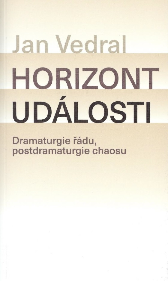 Jan Vedral: Horizont události, obálka knihy