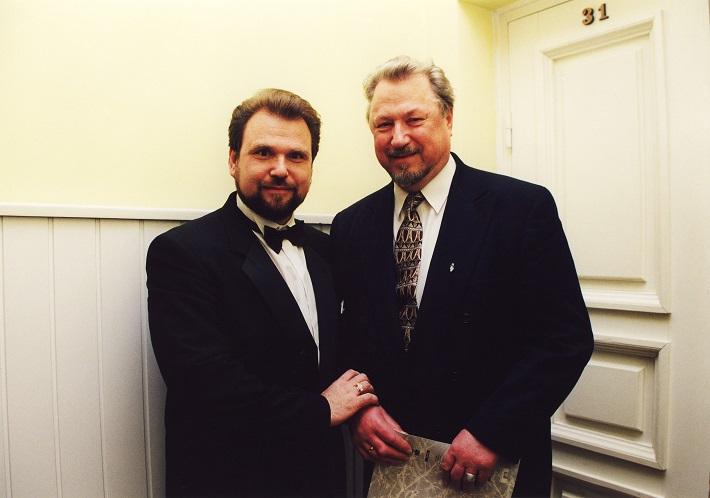 Sergej Larin a Virgilius Norejka vo Vilniuse, foto: súkromný archív Larinovcov