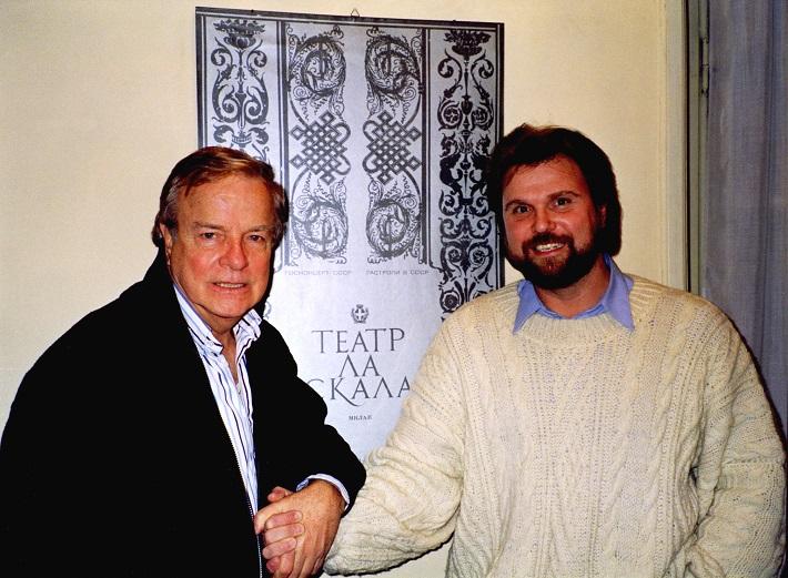 Sergej Larin s Francom Zefirellim v Miláne, foto: súkromný archív Larinovcov