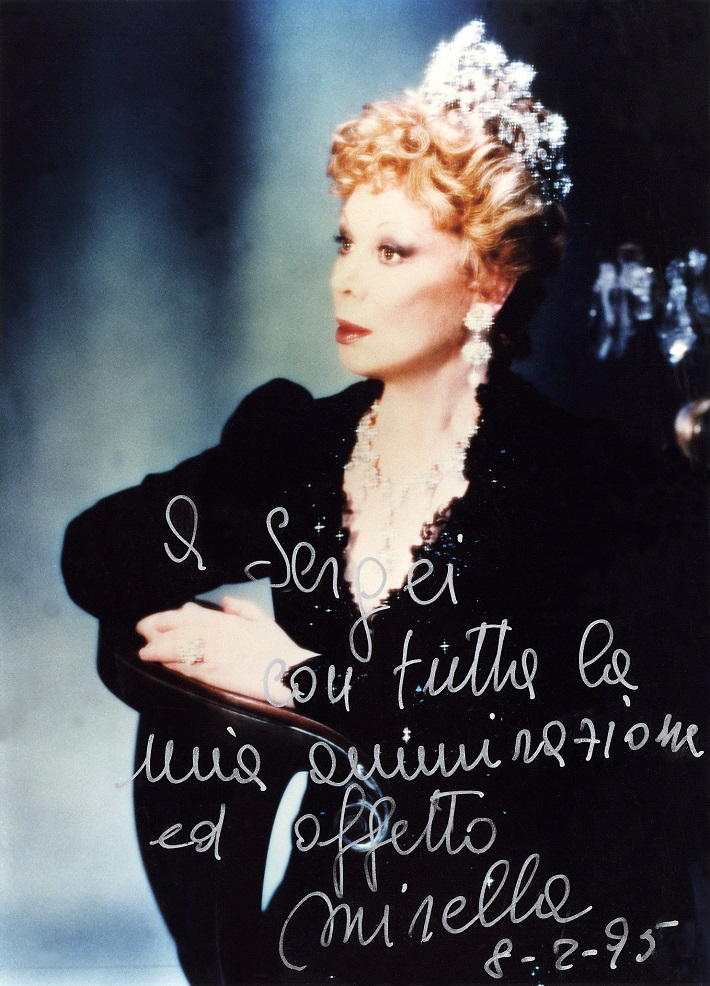 U. Giordano: Fedora, Modena, 1995, Mirella Freni (s venovaním Sergejovi Larinovi)