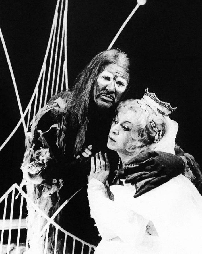A. Dvořák: Rusalka, Opera ŠD Košice, 1974, Juraj Šomorjai (Vodník), Mária Harnádková (Rusalka), foto: Archív Jozefa Horvátha
