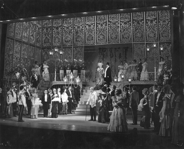 E. Kálmán: Čardašová princezná, Opera ŠD Košice, 1967, foto: Archív ŠDKE