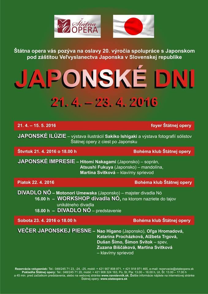 Japonské dni v Štátnej opere Banská Bystrica