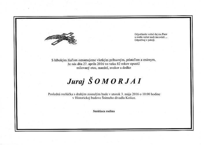 Juraj Šomorjai, parte