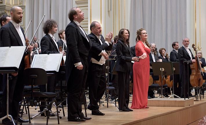 Koncert v Slovenskej filharmónii, 2016, L. Svárovský, S. Tolstov, O. Mikhaleva, M. Šebestová, foto: Ján Lukáš