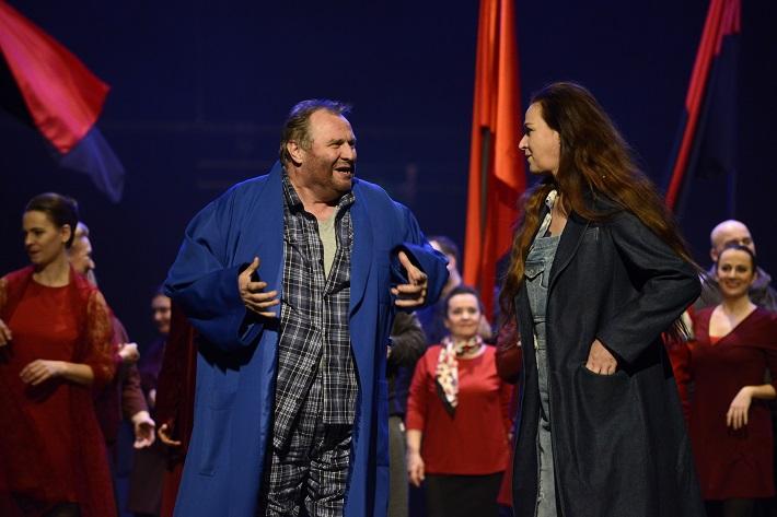 Ludwig van Beethoven: Fidelio, Opera SND, 2016, Jan Vacík (Florestan), Maida Hundeling (Leonore), foto: Pavol Breier