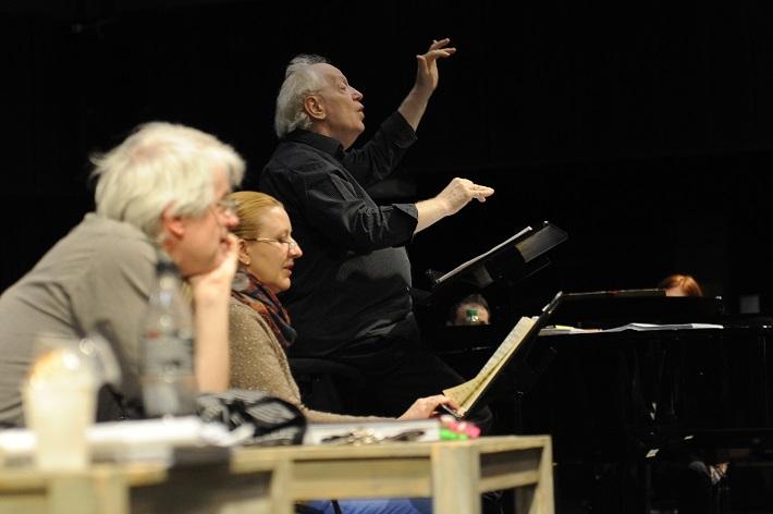 Ludwig van Beethoven: Fidelio, Opera SND, 2016, skúška opery, M. Bendik, E. Balážová, J. Kovács, foto: Alena Klenková